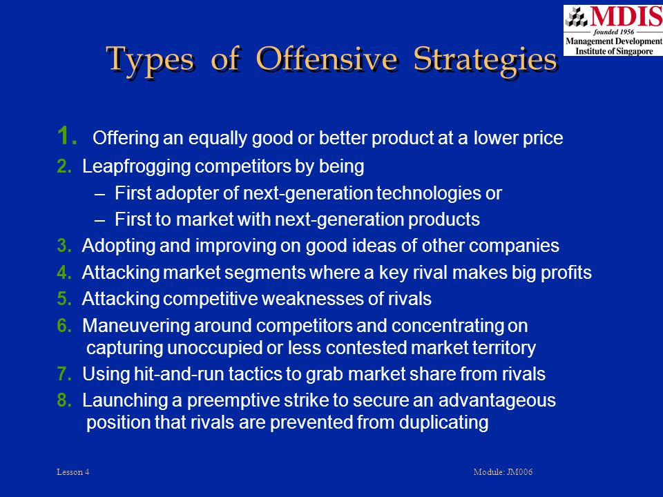 Types of Offensive Strategies