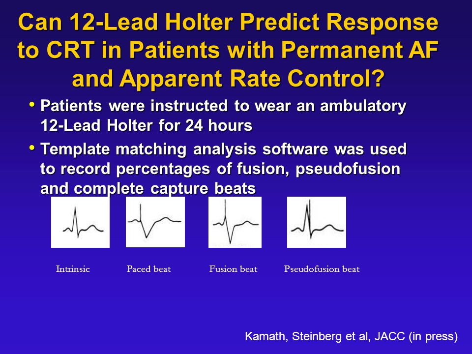 Can 12-Lead Holter Predict Response to CRT in Patients with Permanent AF and Apparent Rate Control