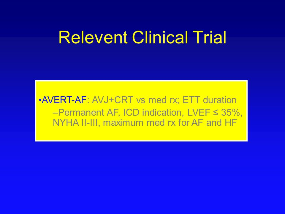 Relevent Clinical Trial
