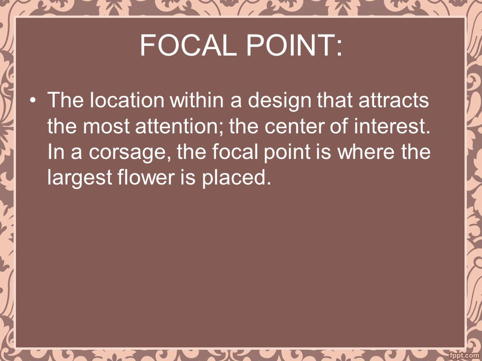 FOCAL POINT: