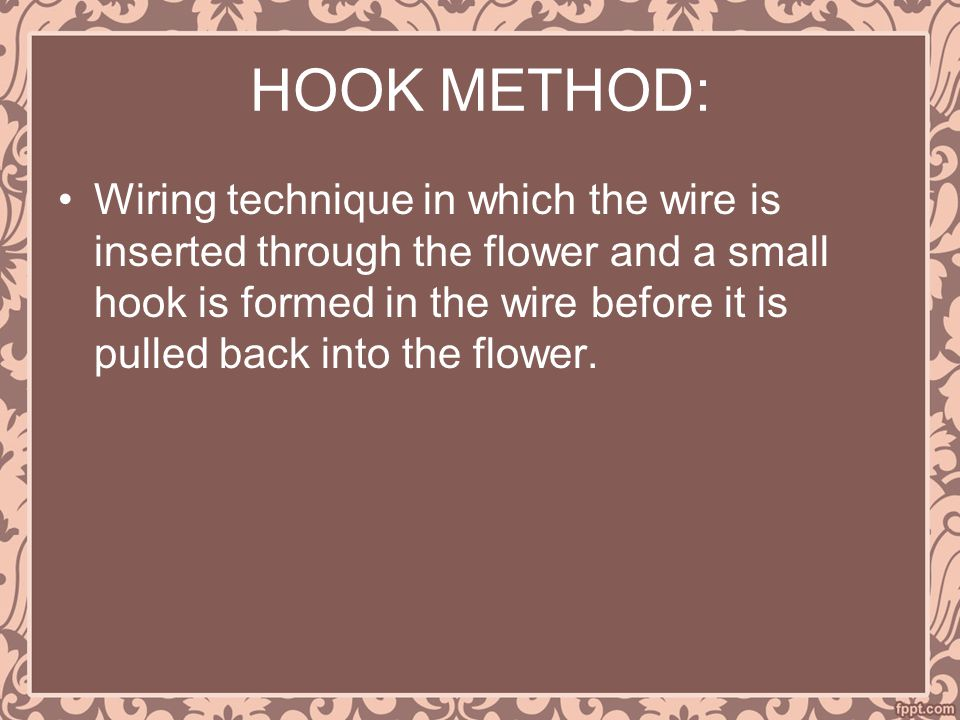 HOOK METHOD:
