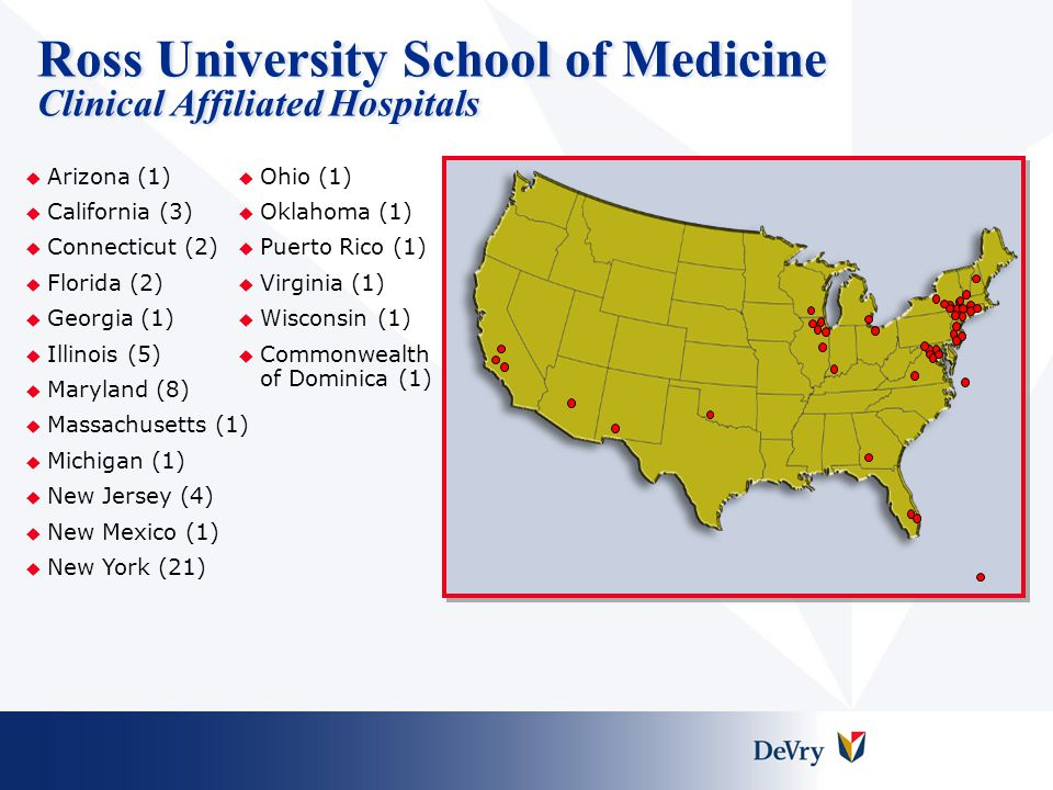 Ross University School of Medicine Clinical Affiliated Hospitals