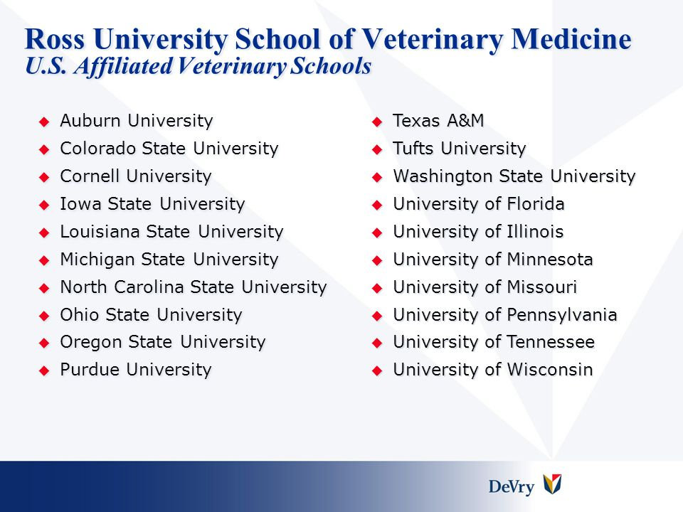 Ross University School of Veterinary Medicine U. S
