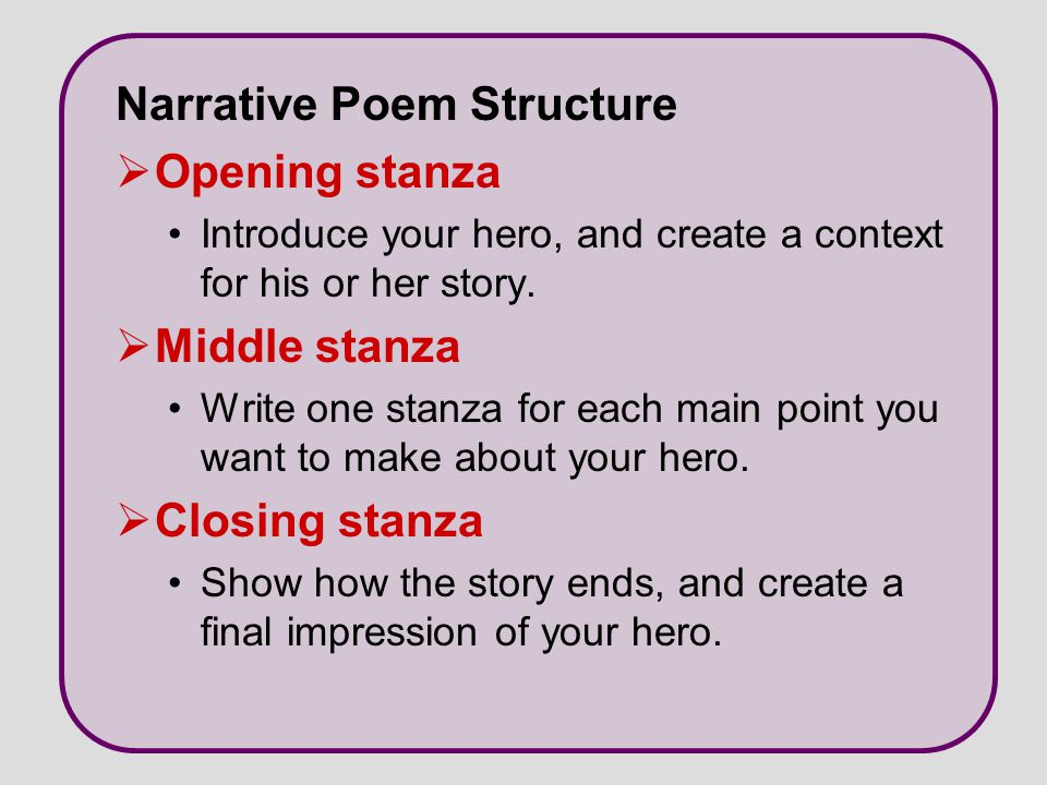 Narrative Poetry Day One: What is a Narrative Poem?