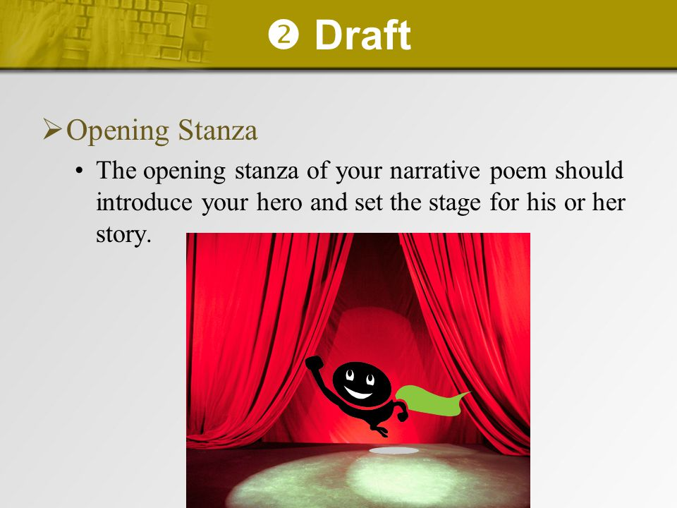  Draft Opening Stanza.