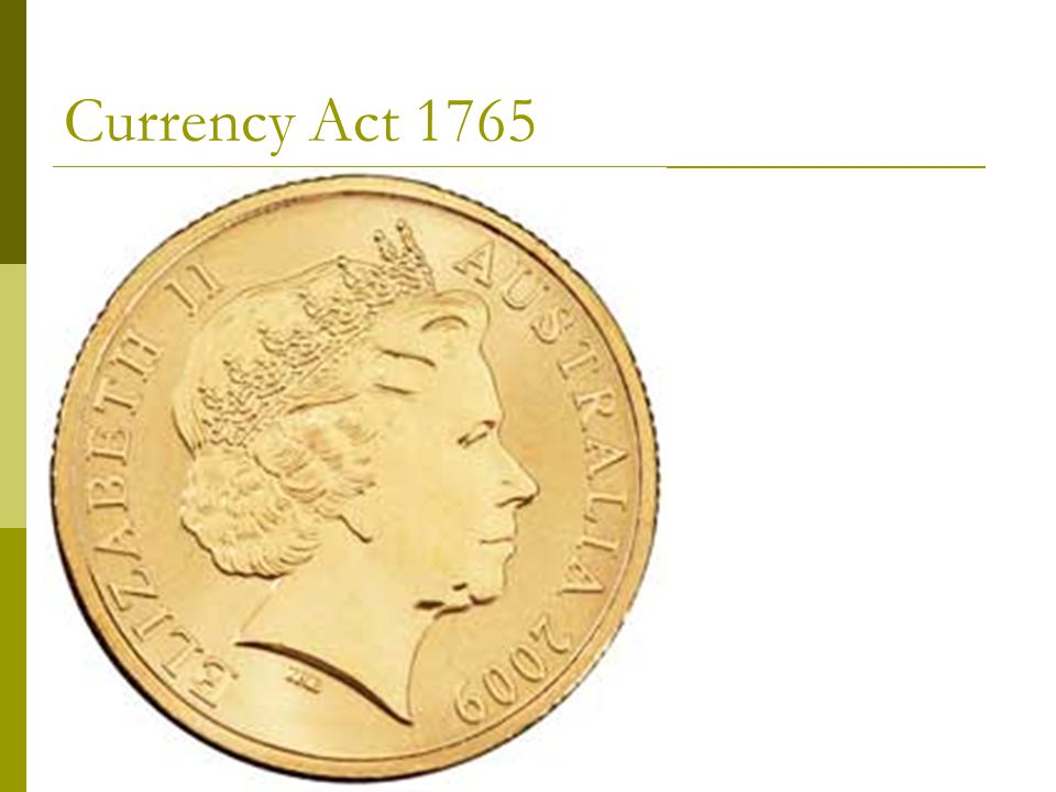 Currency Act 1765