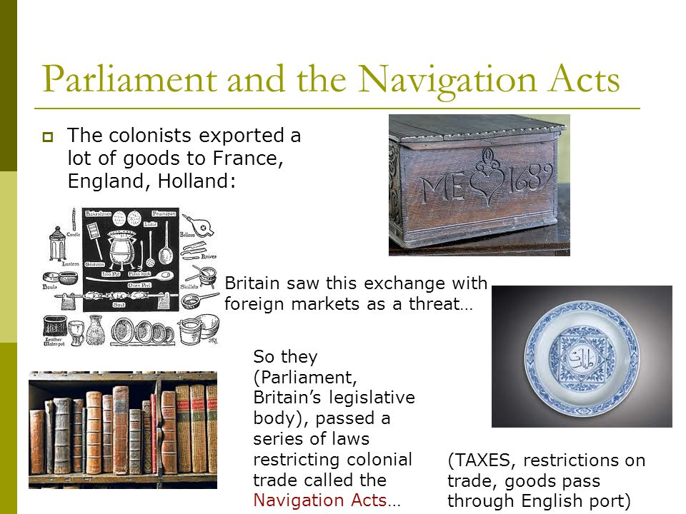 Parliament and the Navigation Acts