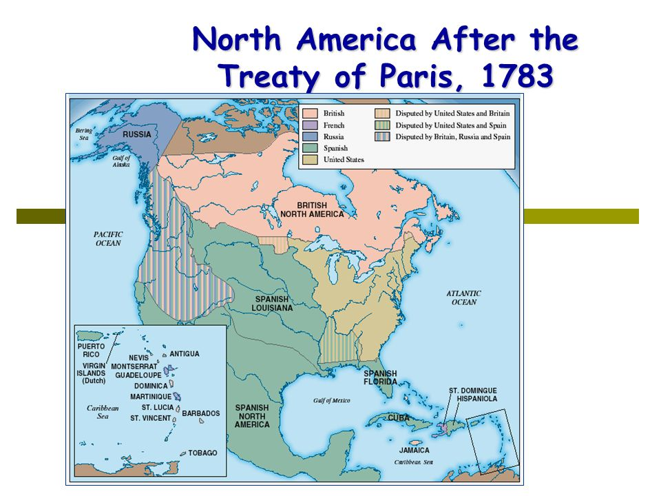 North America After the Treaty of Paris, 1783