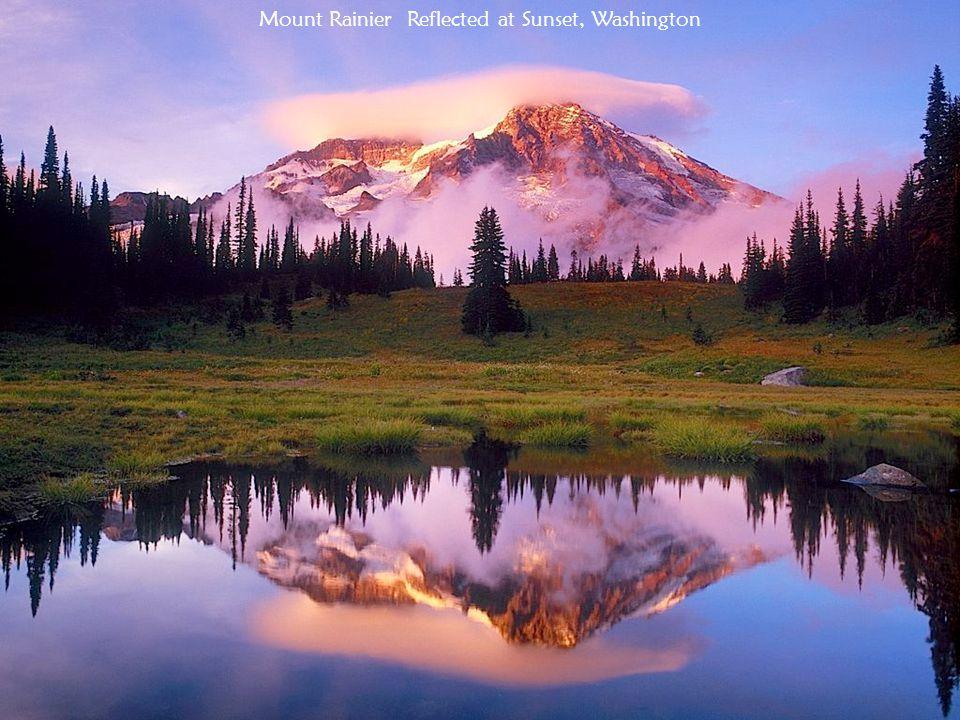 Mount Rainier Reflected at Sunset, Washington