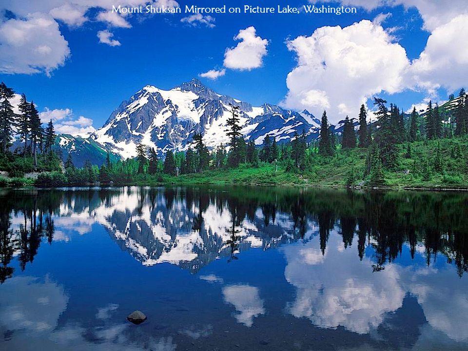 Mount Shuksan Mirrored on Picture Lake, Washington