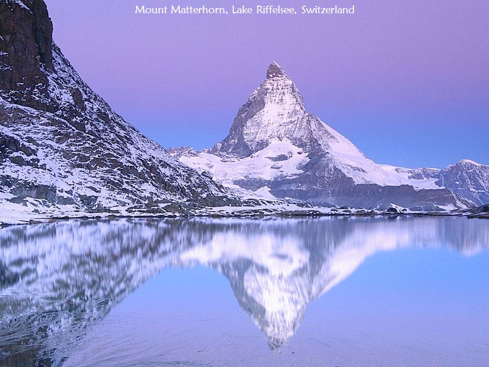 Mount Matterhorn, Lake Riffelsee, Switzerland