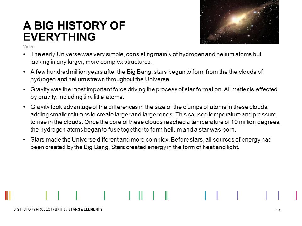 A BIG HISTORY OF EVERYTHING