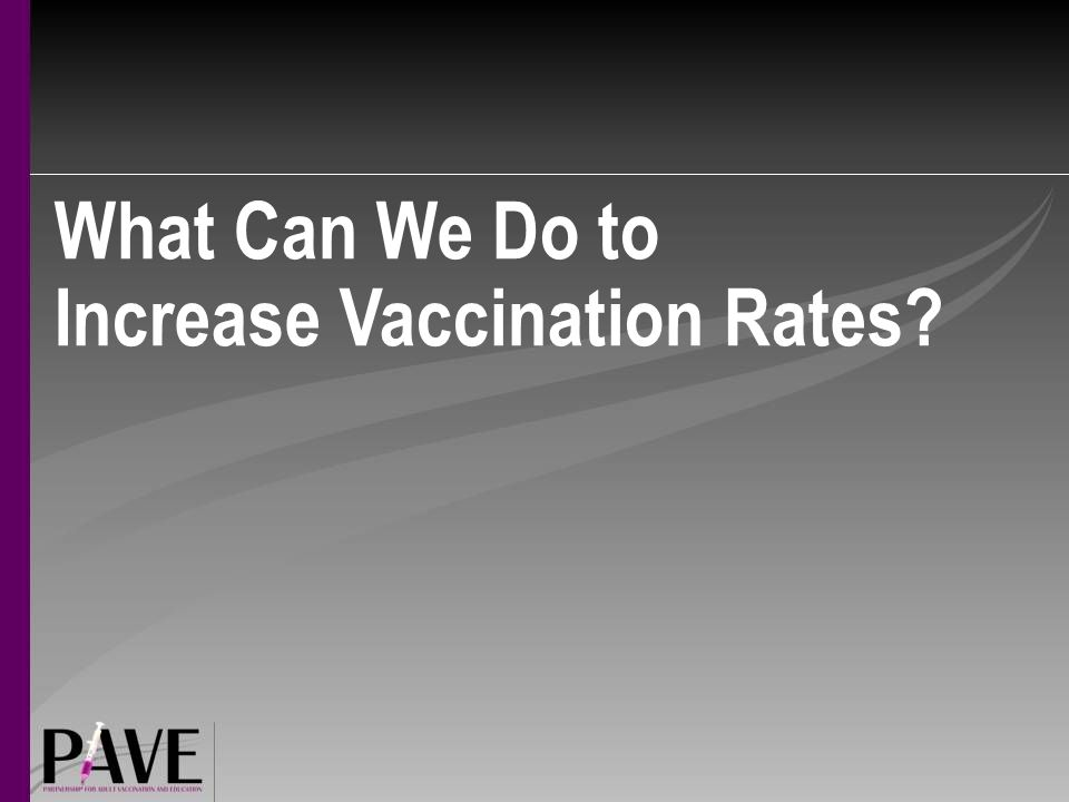 What Can We Do to Increase Vaccination Rates