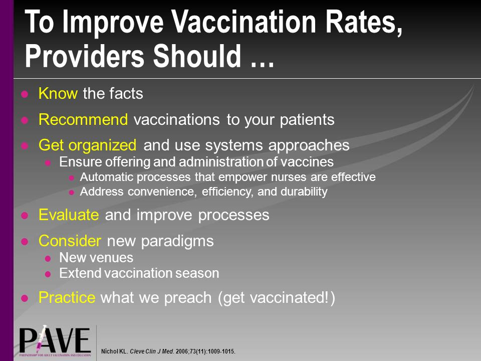 To Improve Vaccination Rates, Providers Should …
