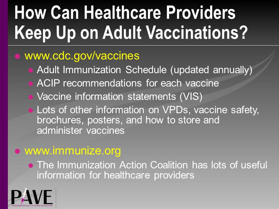 How Can Healthcare Providers Keep Up on Adult Vaccinations