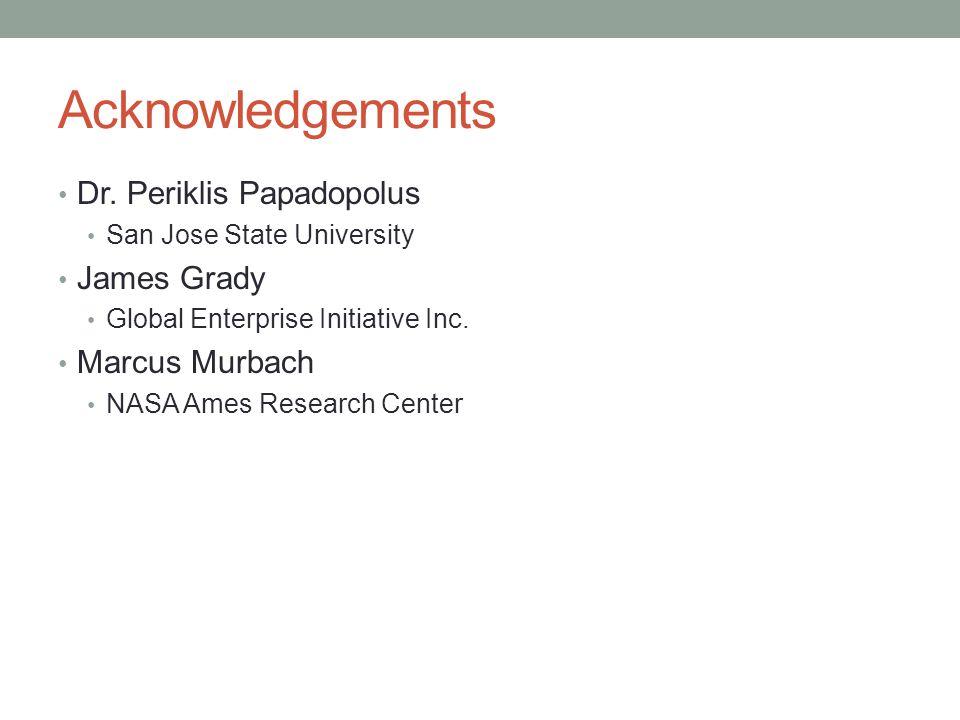 Acknowledgements Dr. Periklis Papadopolus James Grady Marcus Murbach