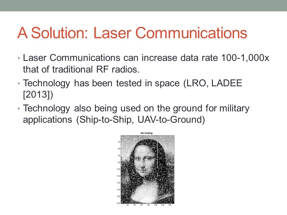 A Solution: Laser Communications