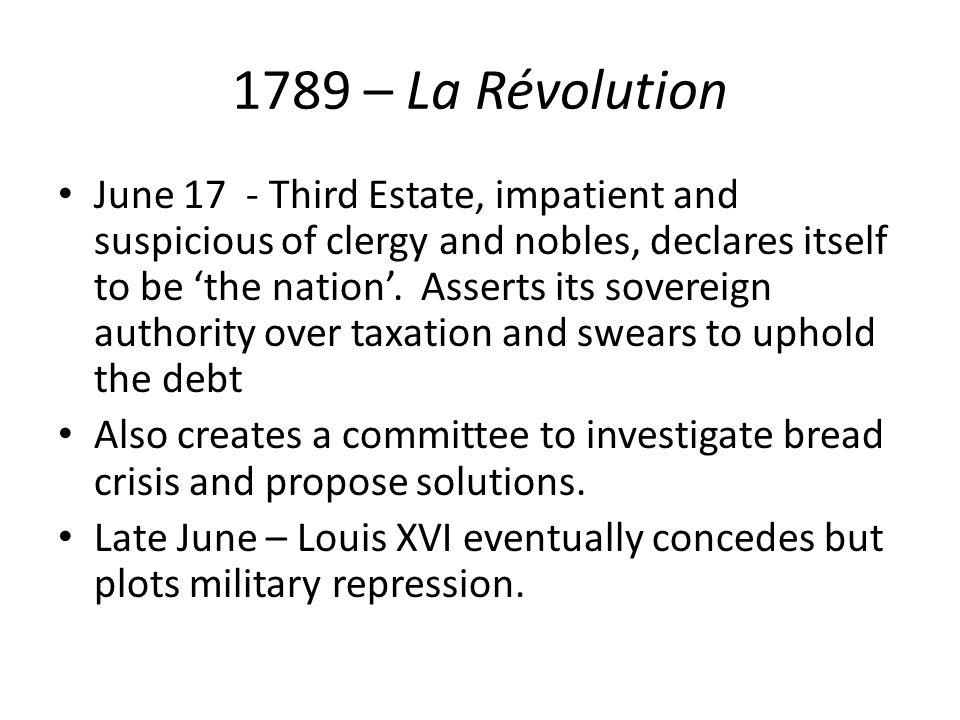 1789 – La Révolution