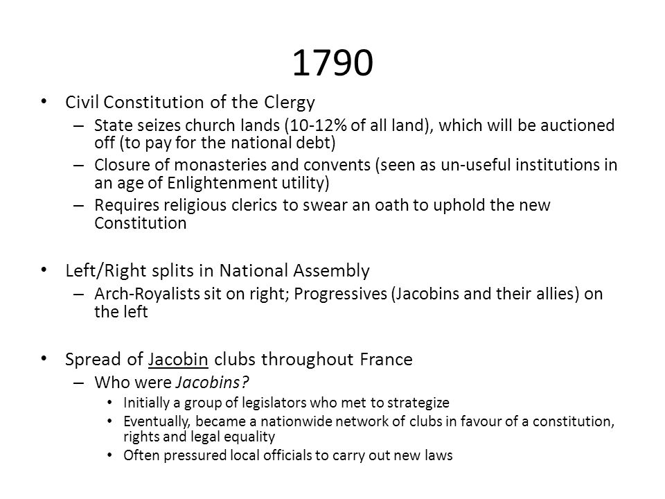 1790 Civil Constitution of the Clergy