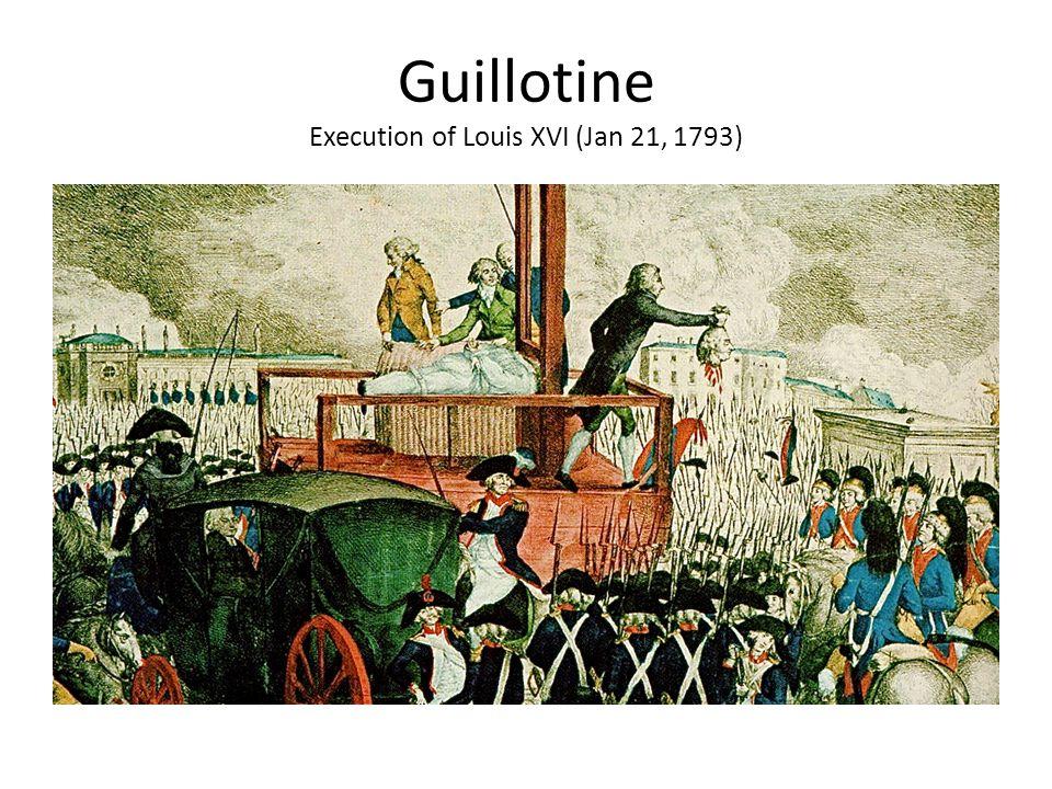 Guillotine Execution of Louis XVI (Jan 21, 1793)