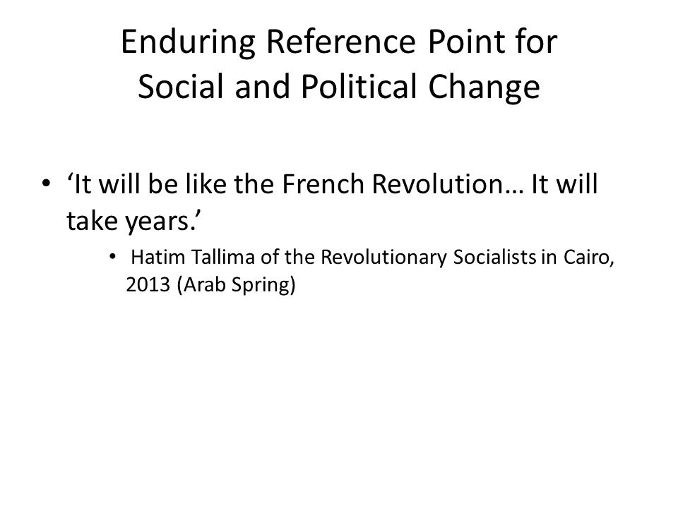 Enduring Reference Point for Social and Political Change