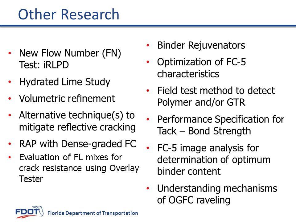 Other Research Binder Rejuvenators