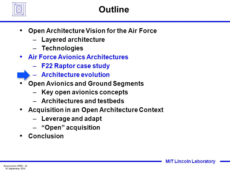 Outline Open Architecture Vision for the Air Force