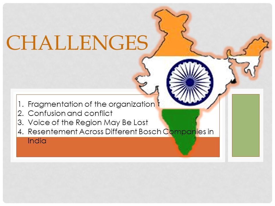 CHALLENGES Fragmentation of the organization Confusion and conflict