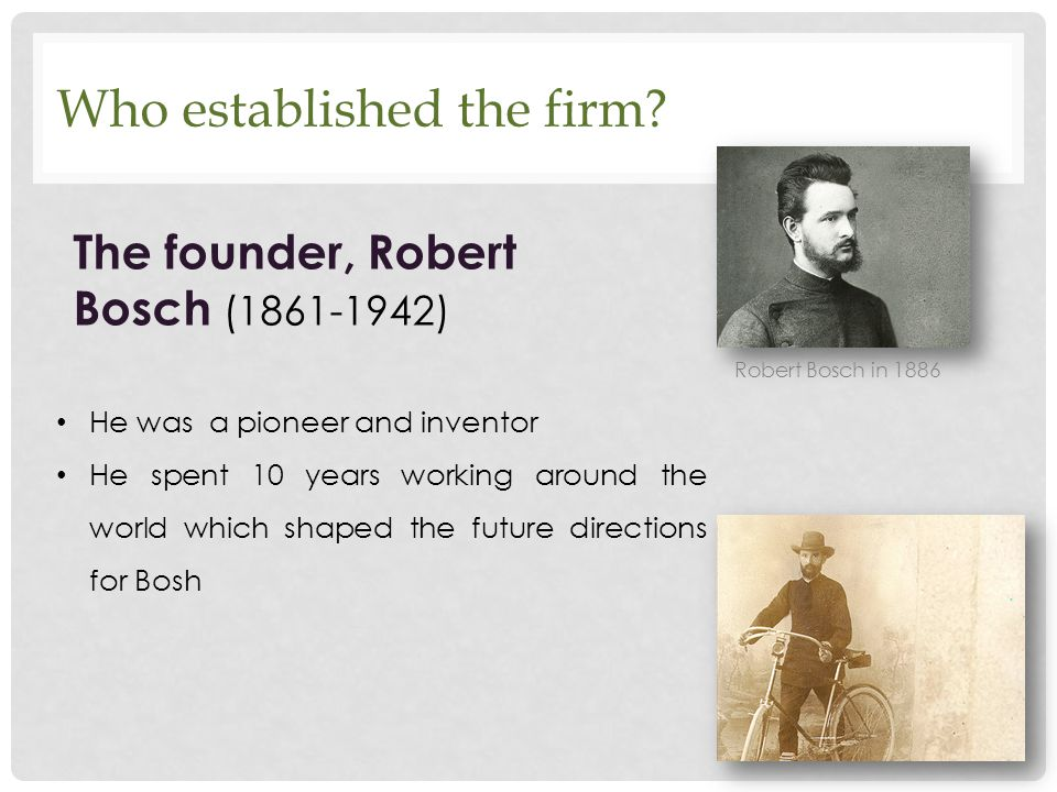 Who established the firm