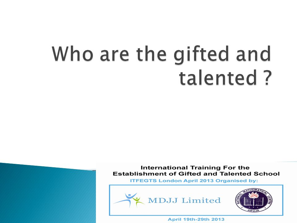 Who are the gifted and talented