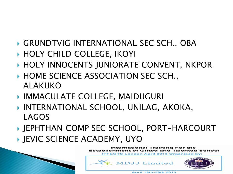 GRUNDTVIG INTERNATIONAL SEC SCH., OBA