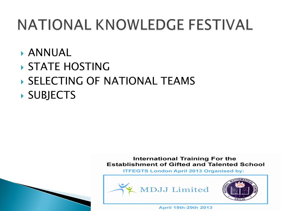 NATIONAL KNOWLEDGE FESTIVAL