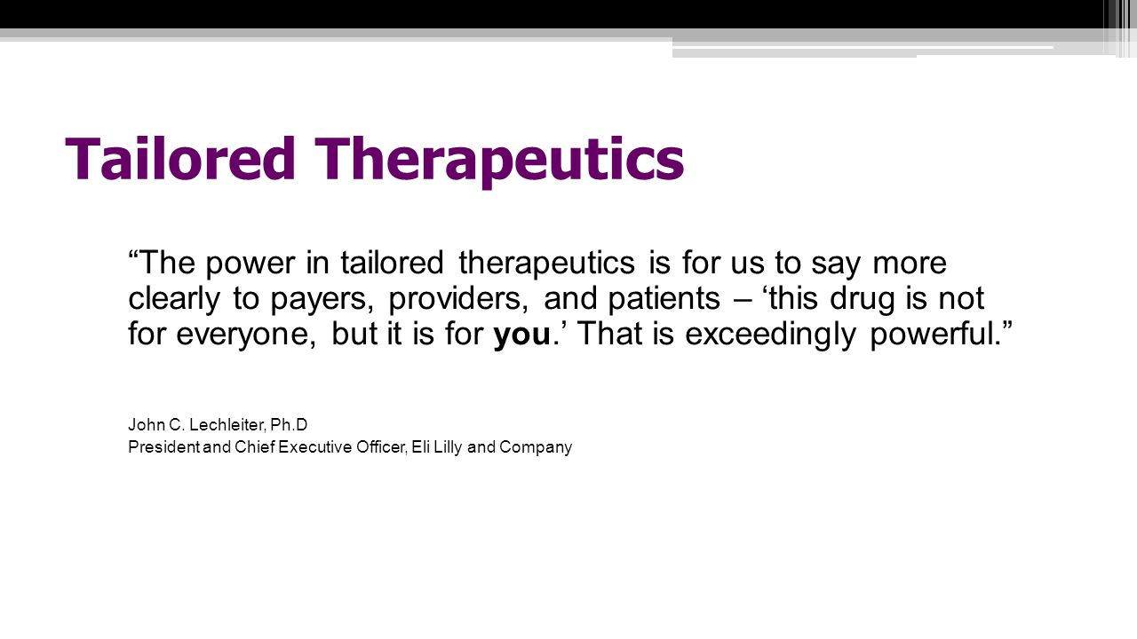 Tailored Therapeutics