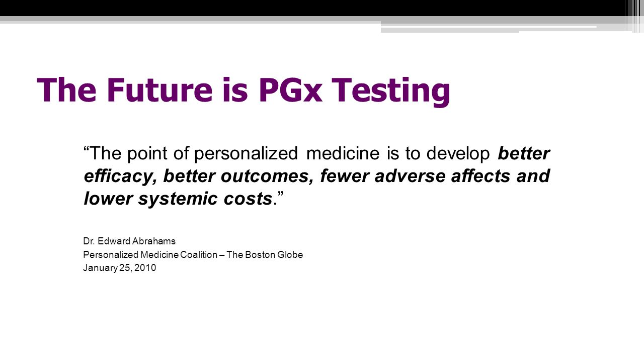 The Future is PGx Testing