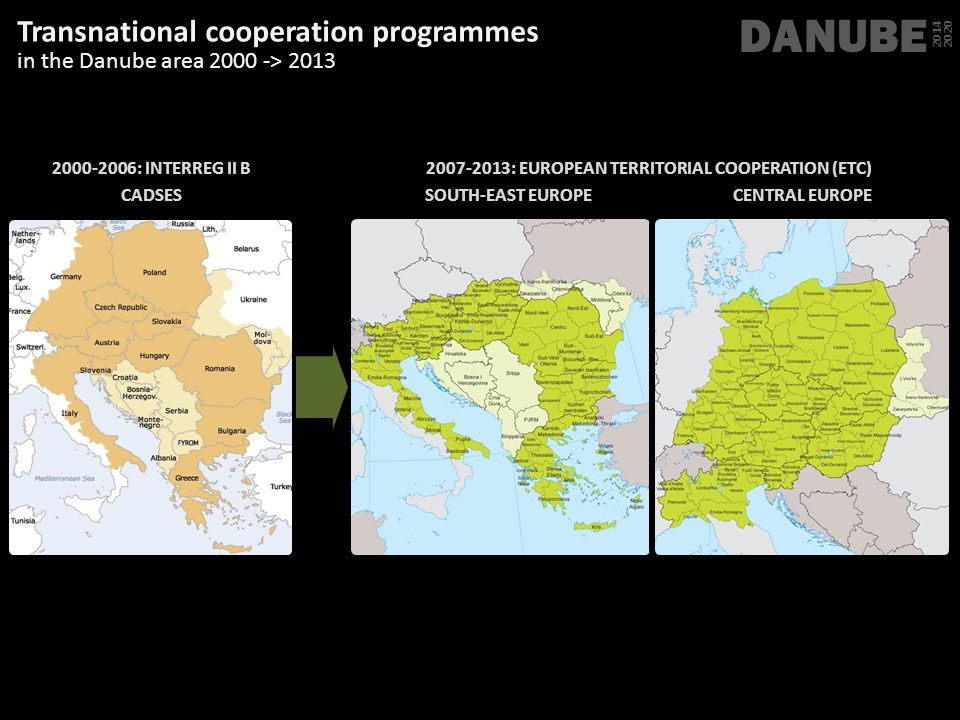 DANUBE Transnational cooperation programmes