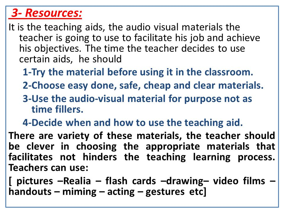 3- Resources: