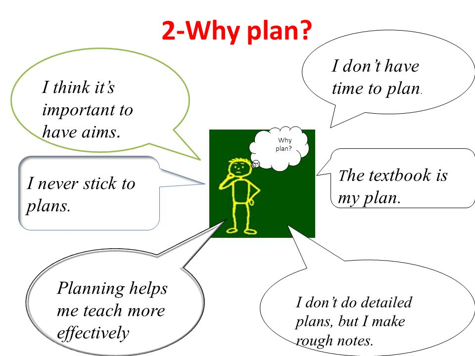 2-Why plan I don't have time to plan.