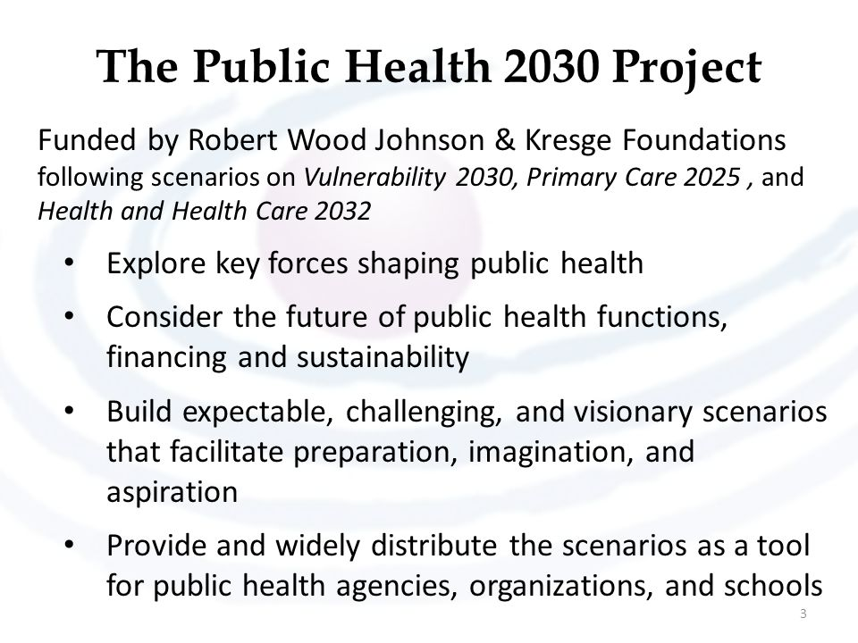 The Public Health 2030 Project