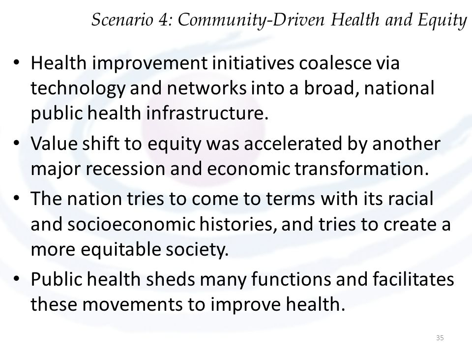 Scenario 4: Community-Driven Health and Equity