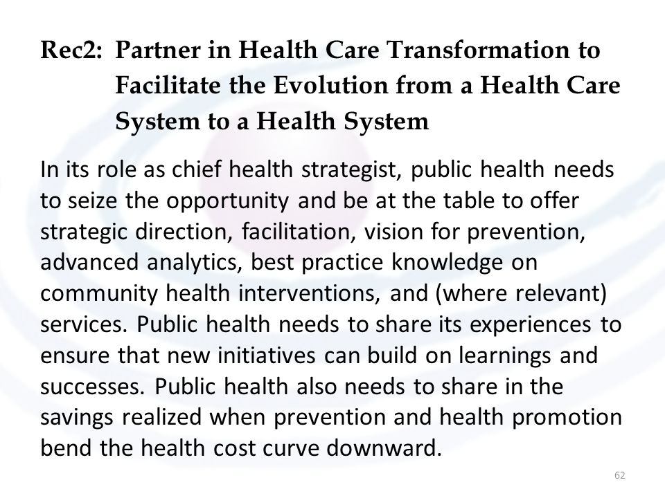 Rec2: Partner in Health Care Transformation to Facilitate the Evolution from a Health Care System to a Health System