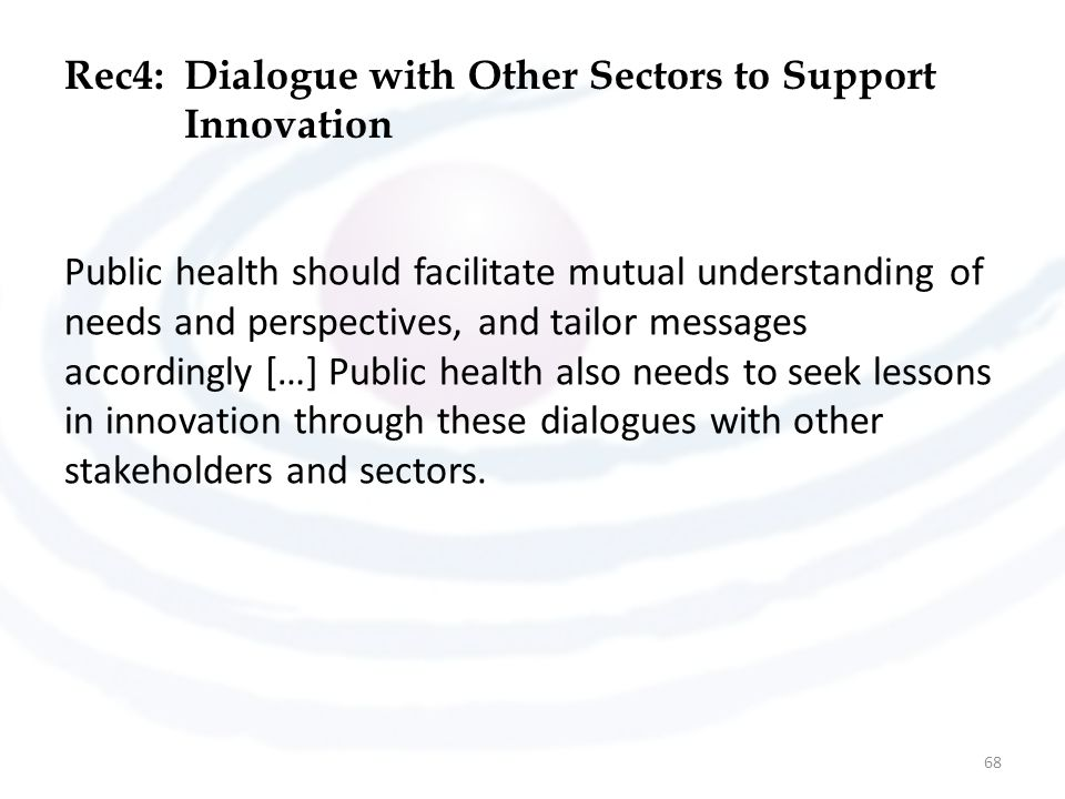 Rec4: Dialogue with Other Sectors to Support Innovation