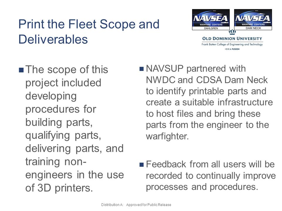 Print the Fleet Scope and Deliverables