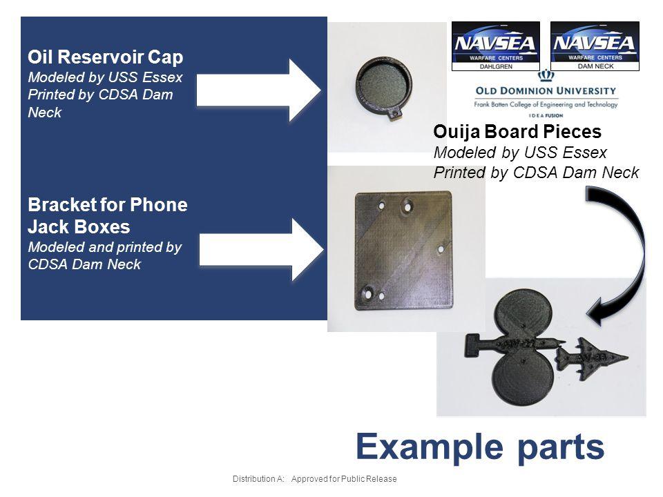 Example parts Oil Reservoir Cap Ouija Board Pieces