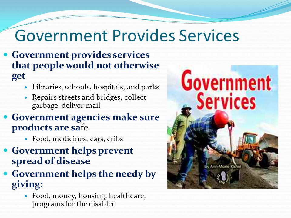 Government Provides Services