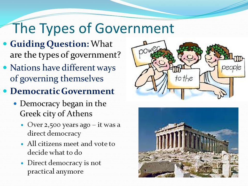 The Types of Government