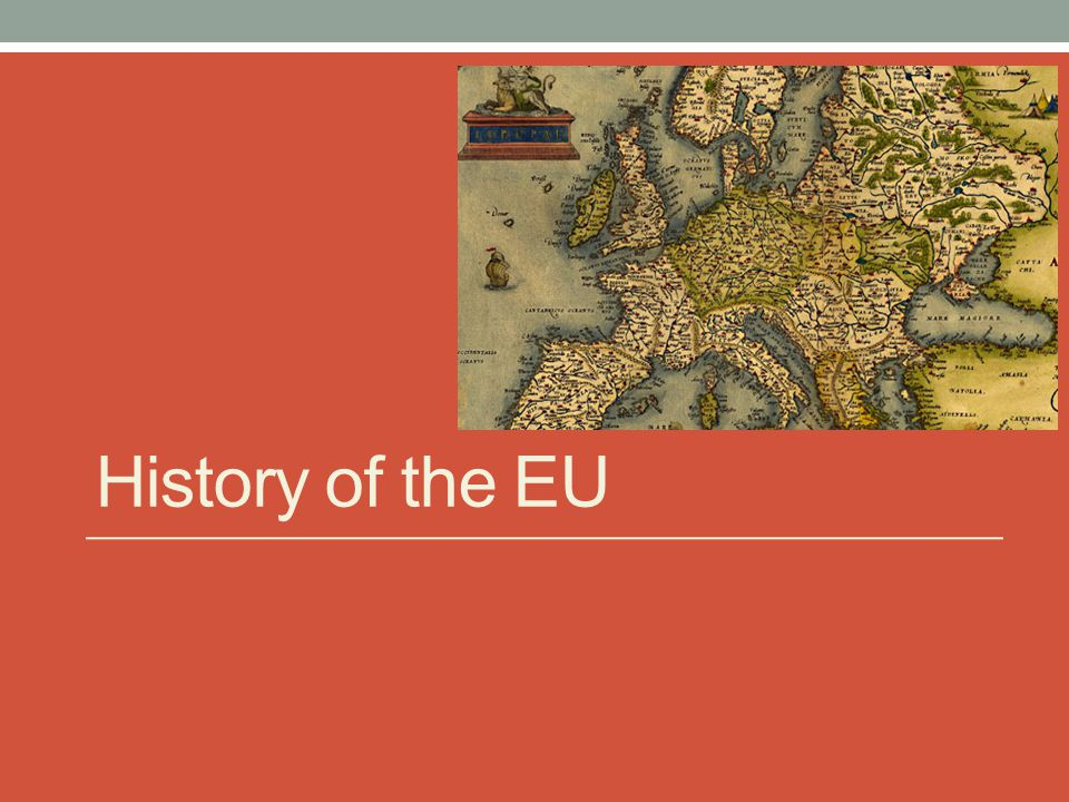 History of the EU