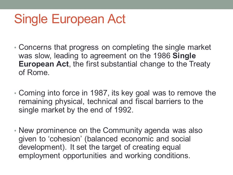 Single European Act