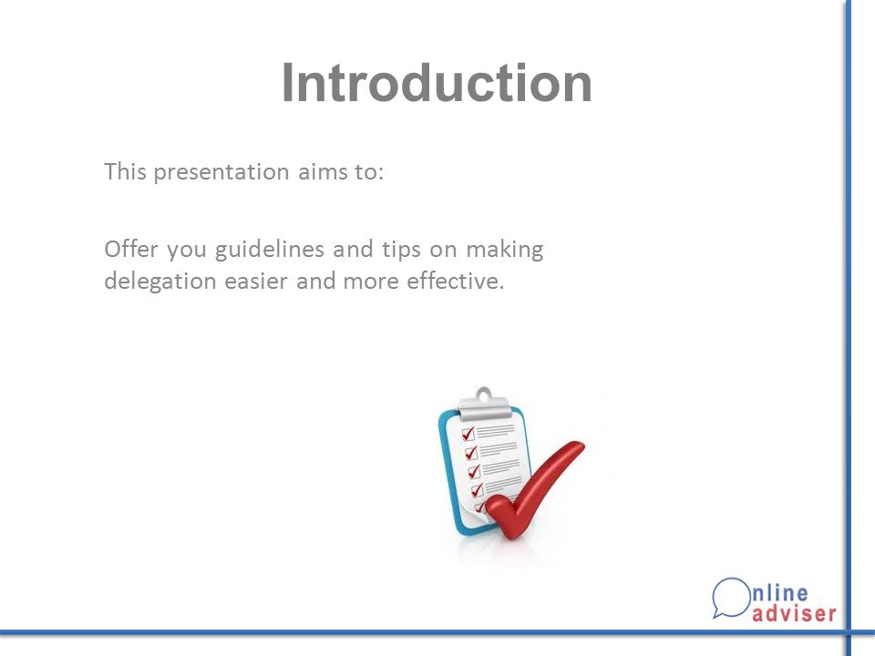 Introduction This presentation aims to:
