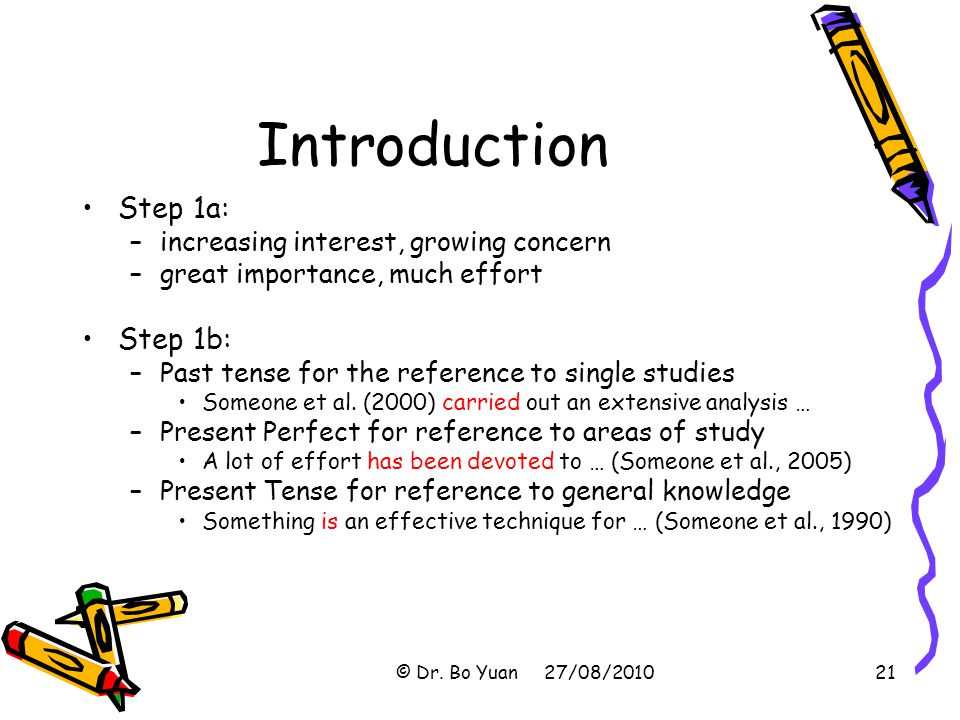 Introduction Step 1a: Step 1b: increasing interest, growing concern