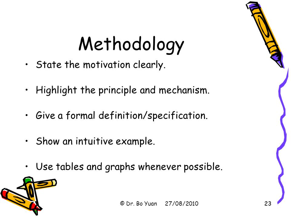 Methodology State the motivation clearly.